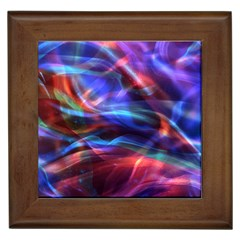 Abstract Shiny Night Lights 2 Framed Tiles by tarastyle
