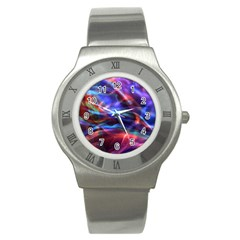 Abstract Shiny Night Lights 2 Stainless Steel Watch by tarastyle