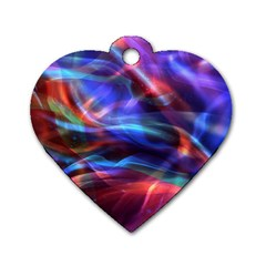 Abstract Shiny Night Lights 2 Dog Tag Heart (two Sides) by tarastyle