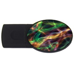 Abstract Shiny Night Lights 3 Usb Flash Drive Oval (4 Gb) by tarastyle