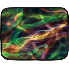 Abstract Shiny Night Lights 3 Double Sided Fleece Blanket (mini)  by tarastyle
