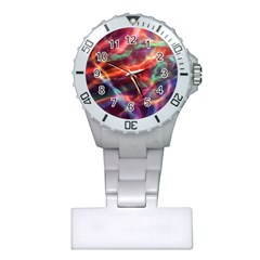Abstract Shiny Night Lights 4 Plastic Nurses Watch by tarastyle
