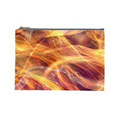 Abstract Shiny Night Lights 10 Cosmetic Bag (large)  by tarastyle