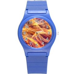 Abstract Shiny Night Lights 10 Round Plastic Sport Watch (s) by tarastyle