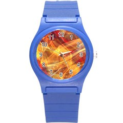 Abstract Shiny Night Lights 13 Round Plastic Sport Watch (s) by tarastyle