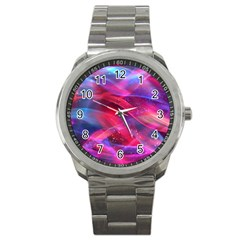 Abstract Shiny Night Lights 18 Sport Metal Watch by tarastyle