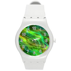 Abstract Shiny Night Lights 21 Round Plastic Sport Watch (m) by tarastyle