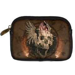 Awesome Creepy Skull With Rat And Wings Digital Camera Cases by FantasyWorld7
