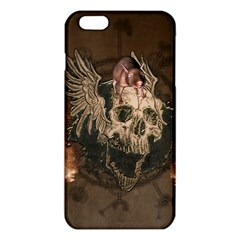 Awesome Creepy Skull With Rat And Wings Iphone 6 Plus/6s Plus Tpu Case by FantasyWorld7