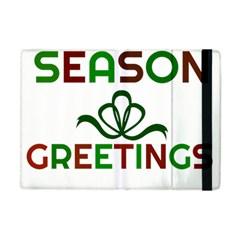 Season Greetings Apple Ipad Mini Flip Case by Colorfulart23