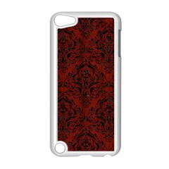 Damask1 Black Marble & Reddish Brown Wood Apple Ipod Touch 5 Case (white) by trendistuff