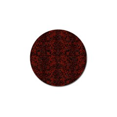 Damask2 Black Marble & Reddish Brown Wood Golf Ball Marker (10 Pack) by trendistuff
