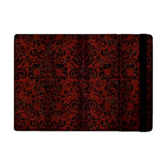Damask2 Black Marble & Reddish Brown Wood Apple Ipad Mini Flip Case by trendistuff
