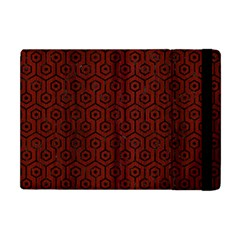 Hexagon1 Black Marble & Reddish Brown Wood Apple Ipad Mini Flip Case by trendistuff