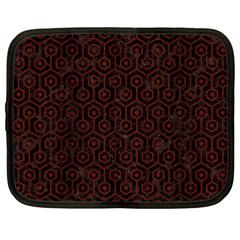 Hexagon1 Black Marble & Reddish Brown Wood (r) Netbook Case (xxl)  by trendistuff