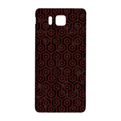 Hexagon1 Black Marble & Reddish Brown Wood (r) Samsung Galaxy Alpha Hardshell Back Case by trendistuff