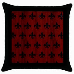 Royal1 Black Marble & Reddish Brown Wood (r) Throw Pillow Case (black) by trendistuff