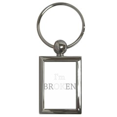 I Am Ok   Broken Key Chains (rectangle)  by Valentinaart