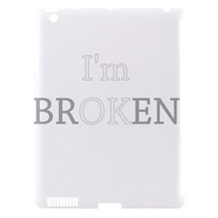 I Am Ok   Broken Apple Ipad 3/4 Hardshell Case (compatible With Smart Cover) by Valentinaart