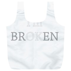 I Am Ok   Broken Full Print Recycle Bags (l)  by Valentinaart