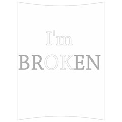 I Am Ok   Broken Back Support Cushion by Valentinaart