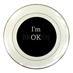 I Am Ok   Broken Porcelain Plates by Valentinaart