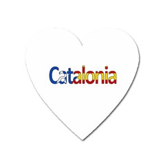 Catalonia Heart Magnet by Valentinaart