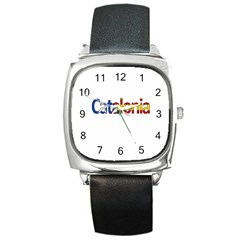 Catalonia Square Metal Watch by Valentinaart
