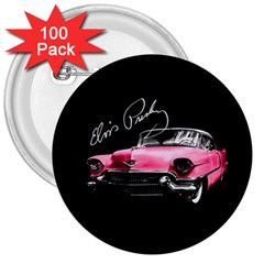 Elvis Presleys Pink Cadillac 3  Buttons (100 Pack)  by Valentinaart
