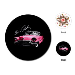 Elvis Presleys Pink Cadillac Playing Cards (round)  by Valentinaart