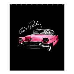 Elvis Presleys Pink Cadillac Shower Curtain 60  X 72  (medium)  by Valentinaart