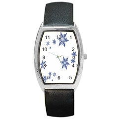 Star Snow Blue Rain Cool Barrel Style Metal Watch by AnjaniArt