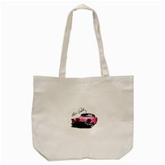 Elvis Presley s Pink Cadillac Tote Bag (cream) by Valentinaart