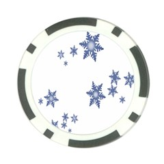 Star Snow Blue Rain Cool Poker Chip Card Guard (10 Pack) by AnjaniArt