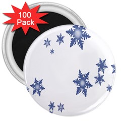 Star Snow Blue Rain Cool 3  Magnets (100 Pack) by AnjaniArt