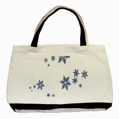 Star Snow Blue Rain Cool Basic Tote Bag (two Sides) by AnjaniArt