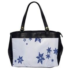 Star Snow Blue Rain Cool Office Handbags by AnjaniArt