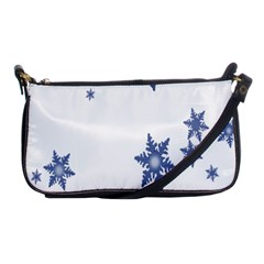 Star Snow Blue Rain Cool Shoulder Clutch Bags by AnjaniArt