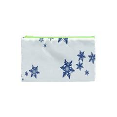 Star Snow Blue Rain Cool Cosmetic Bag (xs) by AnjaniArt