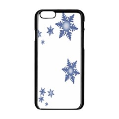Star Snow Blue Rain Cool Apple Iphone 6/6s Black Enamel Case by AnjaniArt