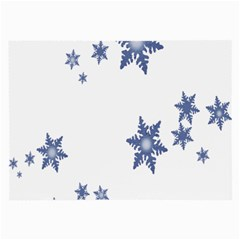 Star Snow Blue Rain Cool Large Glasses Cloth by AnjaniArt