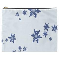 Star Snow Blue Rain Cool Cosmetic Bag (xxxl)  by AnjaniArt