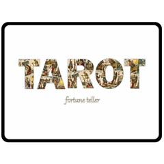 Tarot Fortune Teller Double Sided Fleece Blanket (large)  by Valentinaart