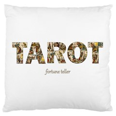 Tarot Fortune Teller Large Flano Cushion Case (one Side) by Valentinaart