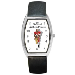 National Anthem Protest Barrel Style Metal Watch by Valentinaart