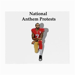 National Anthem Protest Small Glasses Cloth by Valentinaart