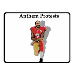 National Anthem Protest Fleece Blanket (small) by Valentinaart