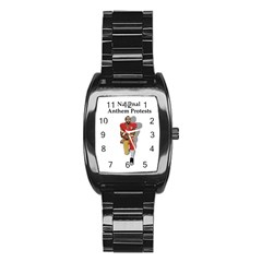 National Anthem Protest Stainless Steel Barrel Watch by Valentinaart