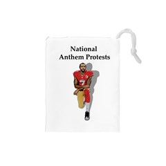 National Anthem Protest Drawstring Pouches (small)  by Valentinaart