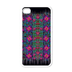 Flowers From Paradise Colors And Star Rain Apple Iphone 4 Case (white) by pepitasart